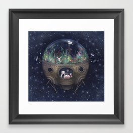 Space Home Framed Art Print