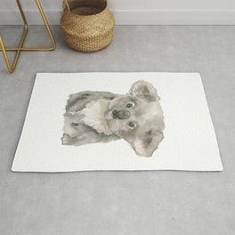Koala Baby Watercolor Painting Rug