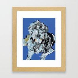 Irish Wolfhound Dog Portrait Framed Art Print