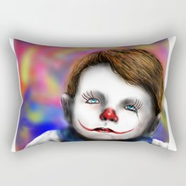 Sad Baby Clown Rectangular Pillow