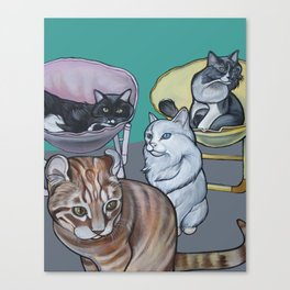 Four Cats Canvas Print