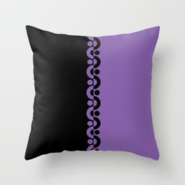 Purple & Black  / Two Tone Modern Throw Pillow