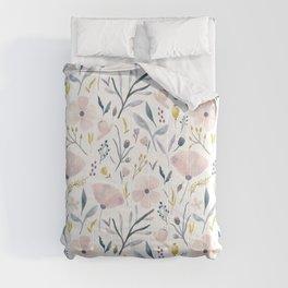 Delicate Pastel Floral Comforters