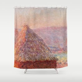 White Frost, Sunrise by Claude Monet Shower Curtain