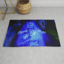 Constance the Ghostly Black Widow Bride in the Attic Rug