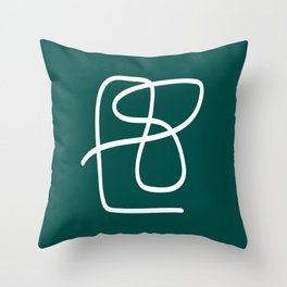 Abstract Line #1 \\ Forest Green Throw Pillow