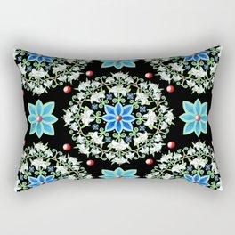 Folkloric Lily Medallion Rectangular Pillow