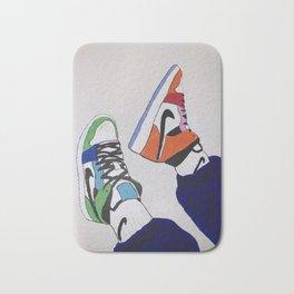 Sneaker Colorful Air Jordan 1's Bath Mat