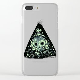 triangular sprouting skull Clear iPhone Case
