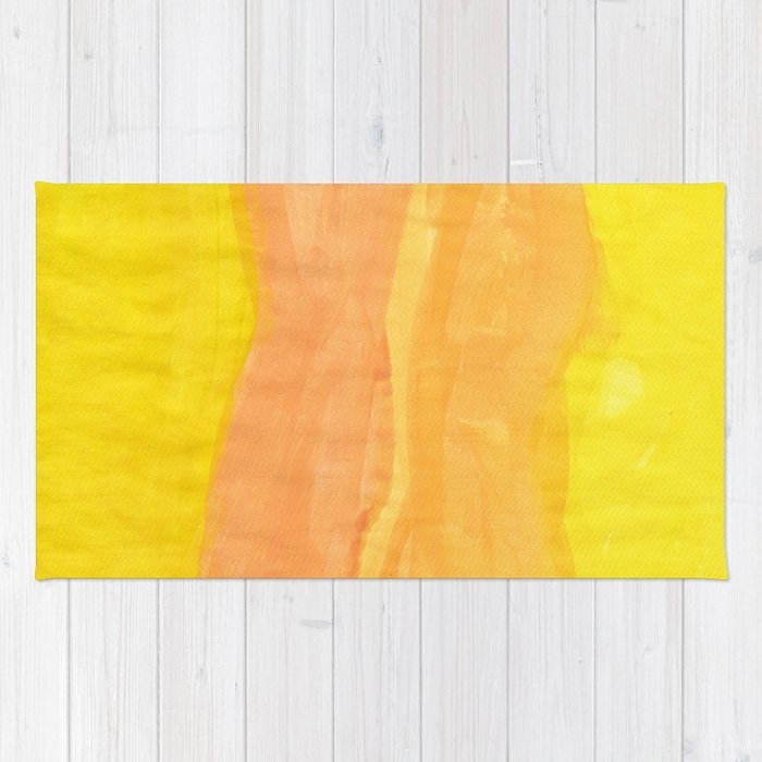 Twin Shapes Watercolor Rug