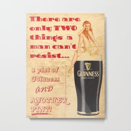 Guinness - Vintage Beer Metal Print