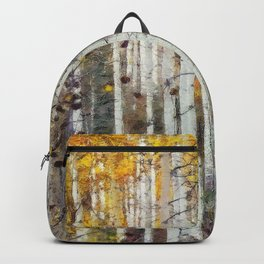 Northern Birch Forest Painting Backpack