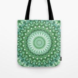 Emerald Green Mandala Tote Bag