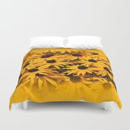 A Bed of Bloomin' Rudbeckias Duvet Cover
