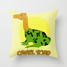 The Camel Toad Throw Pillow