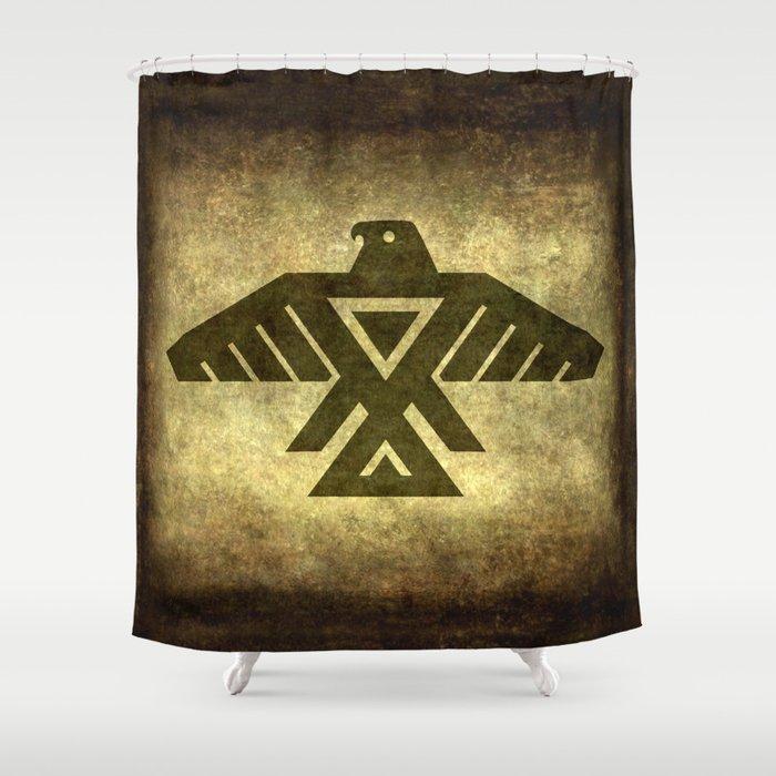 Symbol Of The Anishinaabe Ojibwe Chippewa On Parchment Shower