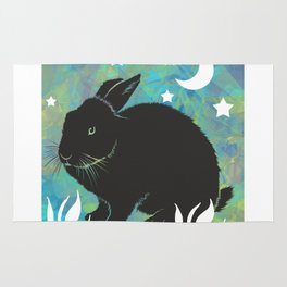 The Black Bunny Rug