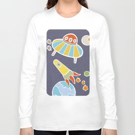 space flying Long Sleeve T-shirt