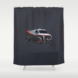 The A Team van illustration Shower Curtain