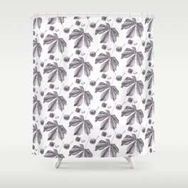 Floral pattern horse-chestnut Shower Curtain