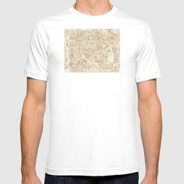 Tucson Arizona watercolor city map T-shirt