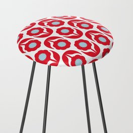 Joy collection - Red flowers Counter Stool