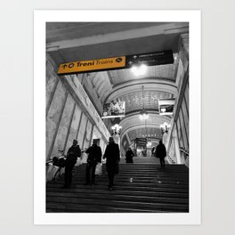 Milano Station Black and White Photography Art Print