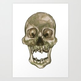 Skull - Decay and Rot Art Print