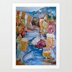 Kalispell Beer/Wine open Art Print