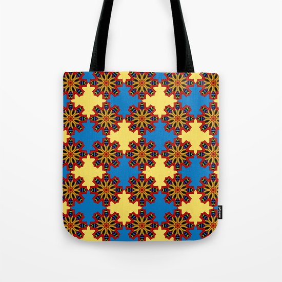 Cute Colourful Floral Patterns Tote Bag