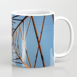 underneath electric pole Coffee Mug