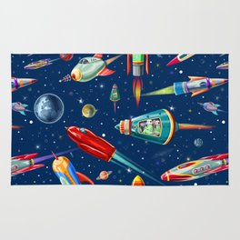 rockets in traffic Rug