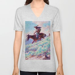 Blackfeet - William Herbert Dunton Unisex V-Neck