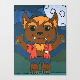 Mischievous Monsters - Wolfie Boy. Canvas Print