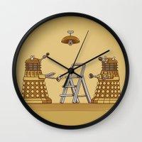 dalek Wall Clocks featuring Dalek DIY by Doodle Dojo