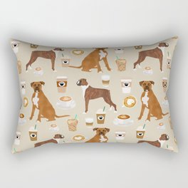 Boxer dog breed coffee pet gifts boxers pupuccino Rectangular Pillow