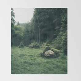 Forest Field - Landscape Photography Throw Blanket