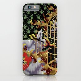 Doves, Mandolin, and the Gilded Cage by Jéan Paul Picart  iPhone Case