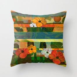 Brasilian stripes Throw Pillow