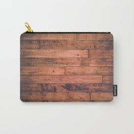 Vintage Rustic Wood Floor Pattern Carry-All Pouch