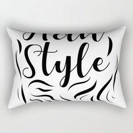 Hair Style Rectangular Pillow