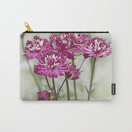 Pink Flowers in the Mist Carry-All Pouch