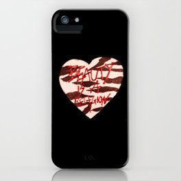BeautyIsAReligion `ZEBRA HEART` iPhone Case