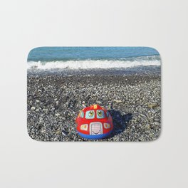 Postcard from the sea Bath Mat
