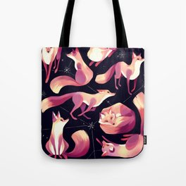 Starry Foxes Tote Bag