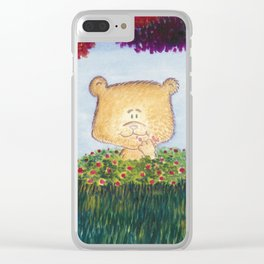 Bear snacking Clear iPhone Case