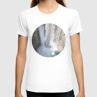 allyson johnson T-shirts featuring Johnson Canyon Waterfall by RMK Photography