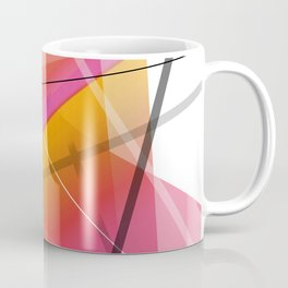 Cranberry Orange Geometric Abstract Art Coffee Mug