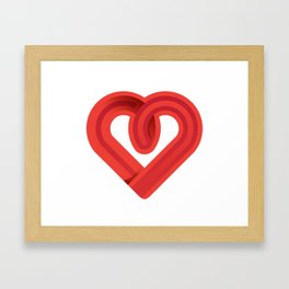 In the name of love Framed Art Print