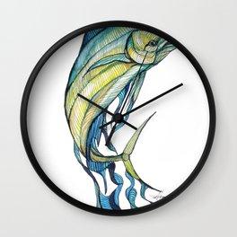 The Glass Mahi Mahi  Wall Clock